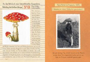 Krug Heimat Pilz und mädchen