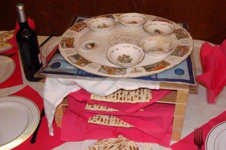 Seder-Feier an Pessach