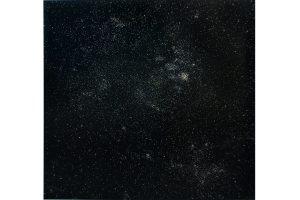 Sternbilder in Nadeln und Nägeln, Bild von Miguel Rothschild, Insomnia V, Pins and nails pinned onto a c-print, 146 x 156 cm.